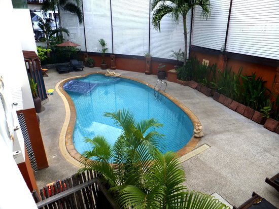 The Album Loft at Nanai Road: view from the room to pool side