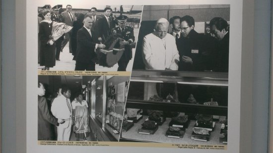 Hiroshima National Peace Memorial Hall for the Atomic Bomb Victims : The Pope visit