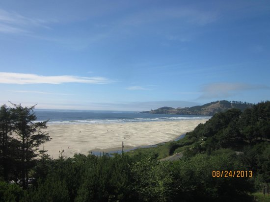 BEST WESTERN Agate Beach Inn: Again, the view from our room. Walk out the back door, cross a small road, then you're on the be