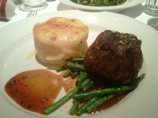 Dressler: Fillet steak, the best dish there