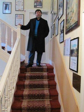 Les Terrasses Poulard: лестница