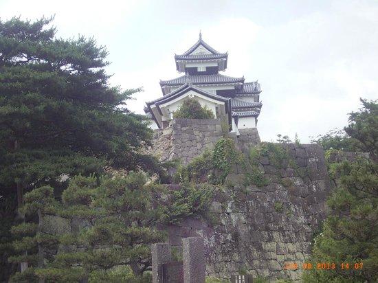 Komine Castle Remains : 堀からの姿です。