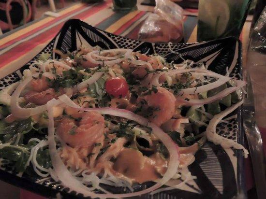 le bout du monde : Salade Thaï aux crevettes :D