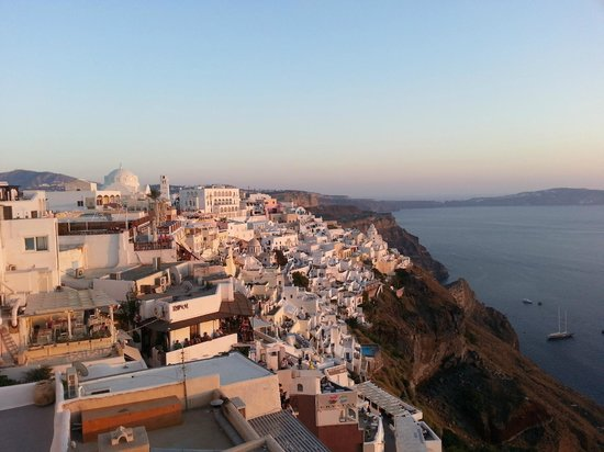 Santorini Mansion at Imerovigli: View from the town