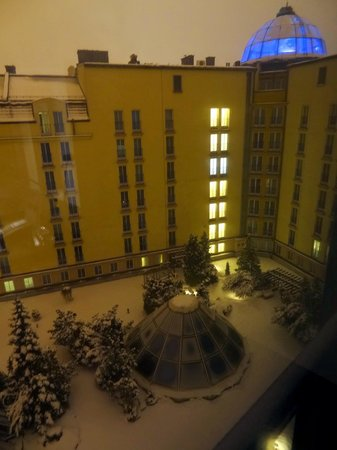 Radisson Blu Sobieski Hotel Warsaw : View from Room into Garden
