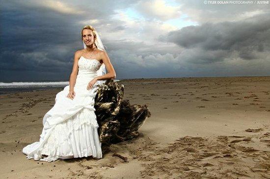The Estuary Hotel & Spa: Wedding venue on beach outside hotel