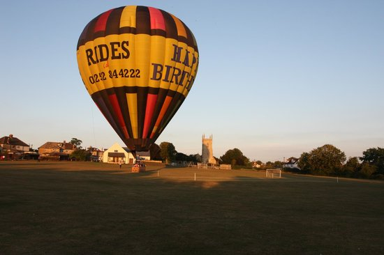 landed safely on the village green picture of adventure balloons