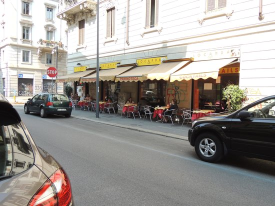 """Andreola Hotel : Our favourite """"local"""" café - 7 minutes away"""