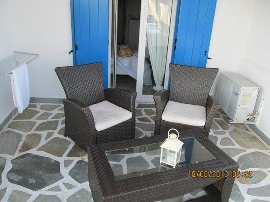 Paros Palace: Terrasse