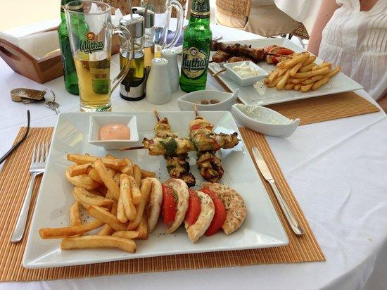 Paros Palace: Repas à l'hôtel