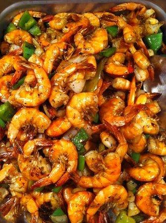 WK Garden Restaurant: spicy shrimps