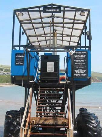 Sea tractor which takes visitors across to Burgh Island