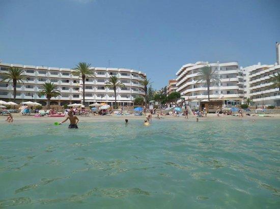 Apartments Mar y Playa: A destra il blocco 1,a sinistra il blocco 2,visti direttamente dal mare