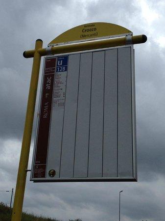Ibis Roma Fiera: Bus Stop near to hotel to take bus 128