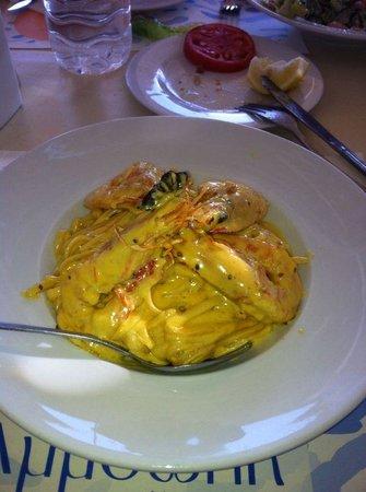 Amoopi Nymfes Apartments : linuini with shrimps