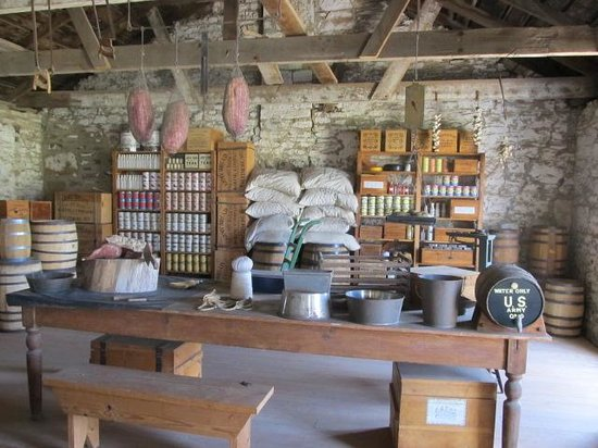 Fort Larned National Historic Site: Stores for food