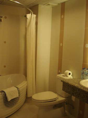 Silverland Central Hotel and Spa: toilet and bath of junior suite