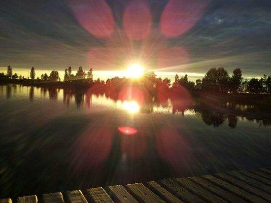 Agriturismo Ai due laghi del Verginese : LAGO AL TRAMONTO