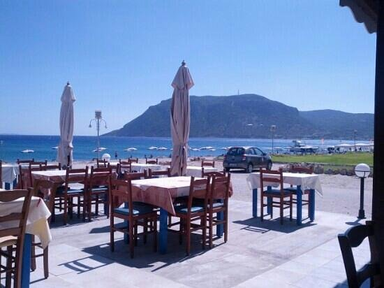 Vista da ristorante sul mare foto di kamari beach kos for Ristorante kos milano