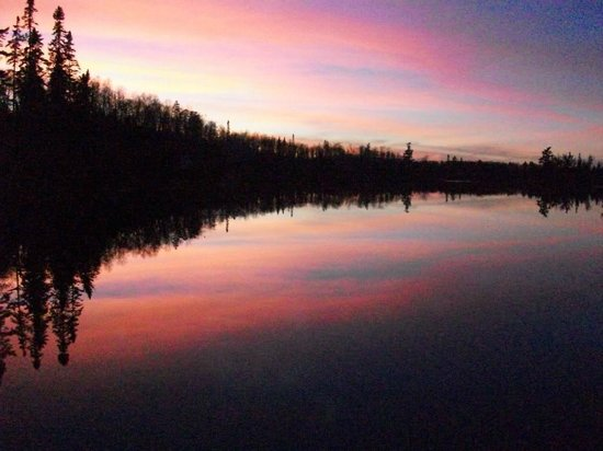 Boundary Waters Canoe Area Wilderness: Beautiful sunsets