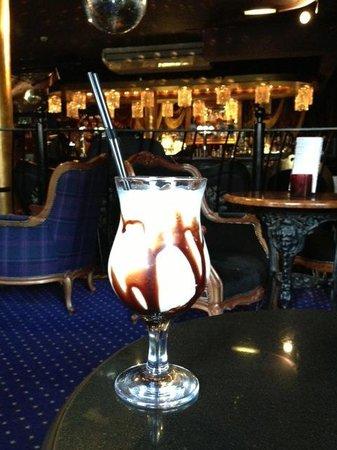 Velvet Sensation cocktail, at the bar