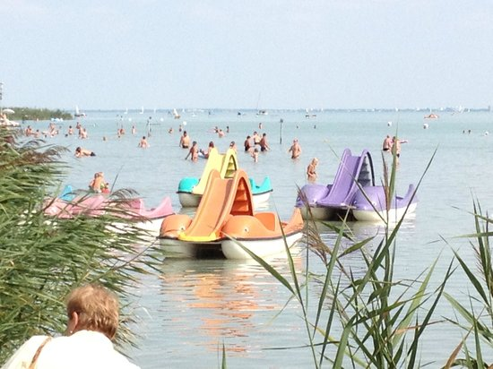 Hotel Annabella: Paddle boats on Lake Balaton