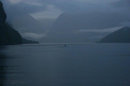 Heimly Pensjonat: Vista del fiordo dalla nostra Camera