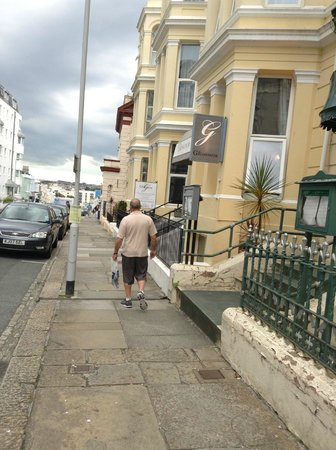 The Grosvenor Plymouth: looking down the street