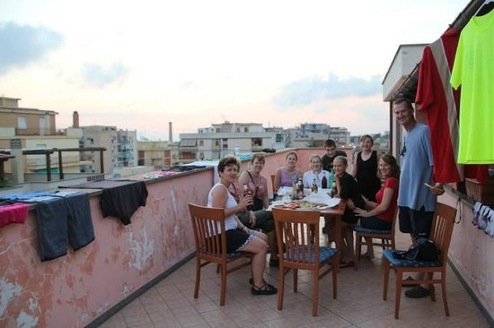 Hotel Traiano: Rooftop view from apartment terrace