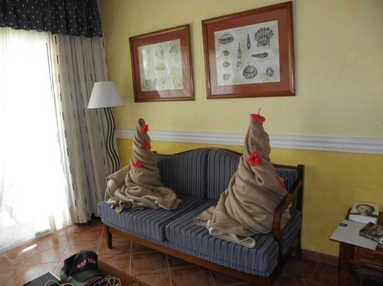 Blau Privilege Cayo Libertad Hotel: Blanket decoration