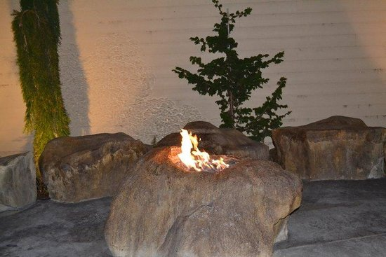 Redwood Hyperion Suites: the little fire place