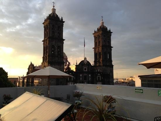 Santiago Hotel Puebla : vista desde la terraza