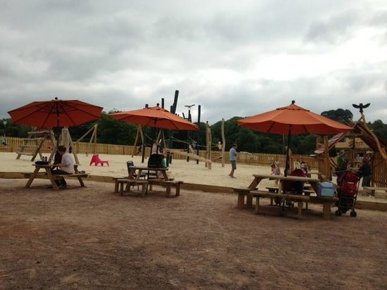 Mountain View Ranch: The sandy play area
