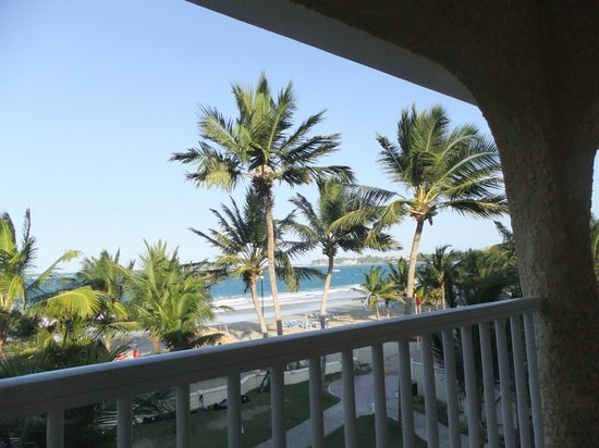 Viva Wyndham Tangerine : View from our balcony ( delux ocean view suite)