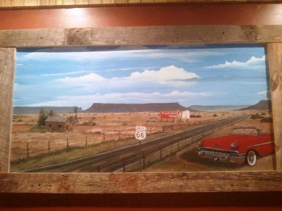 Pow Wow Restaurant & Lounge : Route 66 picture on wall