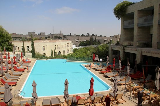 David Citadel Hotel : swimming pool area with a view at the old city