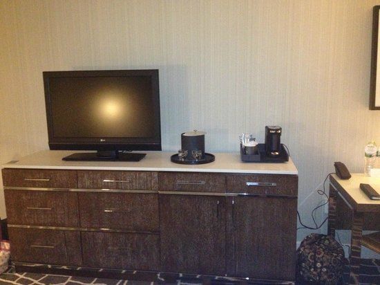 Hyatt Regency Princeton: TV and dresser- new furniture