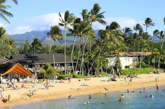 The Mauian Hotel on Napili Beach: veduta della spiaggia dell'hotel