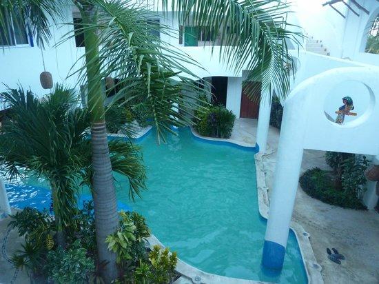 Koox Matan Ka'an Hotel: Cortile interno
