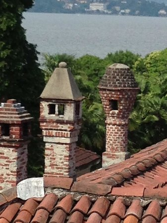 Hotel Boston: cute chimneys and view to Lago Maggiore from our balcony
