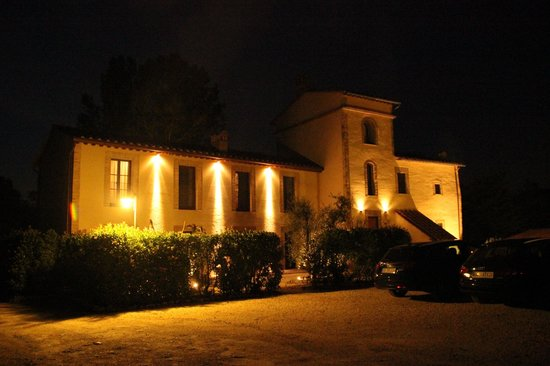 Molino di Foci at night