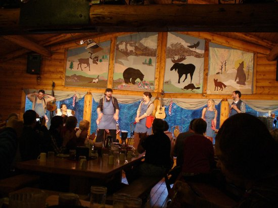 Alaska Cabin Nite Dinner Theater: The cast at work