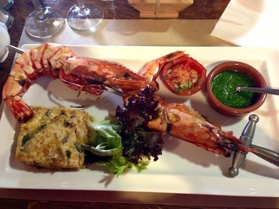La Taverne de Tasdon : La brochette épée de Gambas Royales : Bonheur !