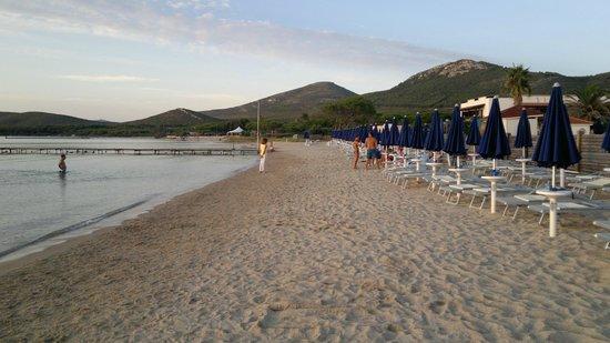 Hotel Portoconte: Spiaggia lato est