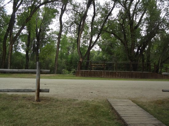 Rockey River Resort: This is the view from the cabins that face the river.