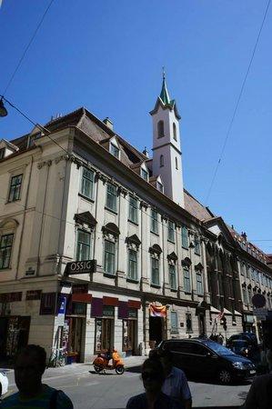Church of the Teutonic Order: The facade.