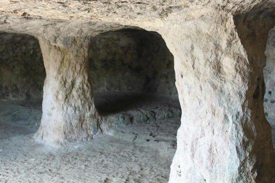 Coves de Cala Morell : Interior de una cueva