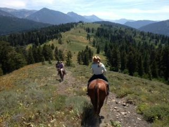 Spotted Horse Ranch : View on all day ride
