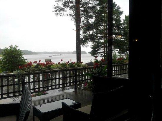 Santalahti Resort : вид из окна на залив