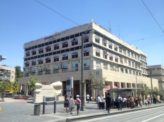 Abraham Hostel Jerusalem : Facade de l'hotel